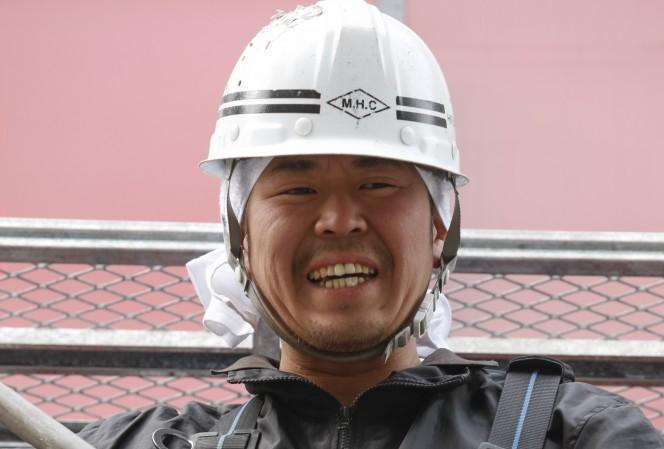 川島工業の社長、川島完一さんビル上